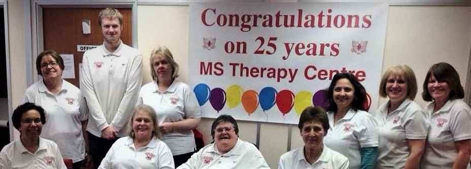 Image of the team at the Milton Keynes Multiple Sclerosis Therapy Centre